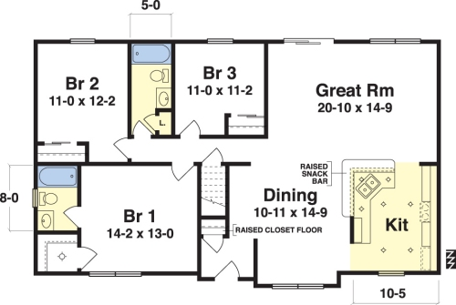 Vernon By Simplex Modular Homes Ranch Floorplan