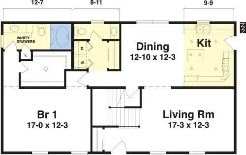 Westfield by simplex modular homes cape cod floorplan for Cape cod floor plans modular homes