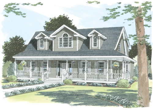 Westport by simplex modular homes cape cod floorplan for Single story cape cod house plans