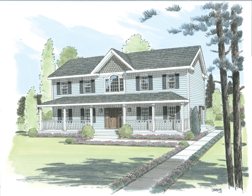 Fitchburg by Simplex Modular Homes Two Story Floorplan
