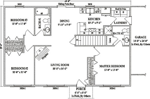 abilene by wardcraft homes ranch floorplan