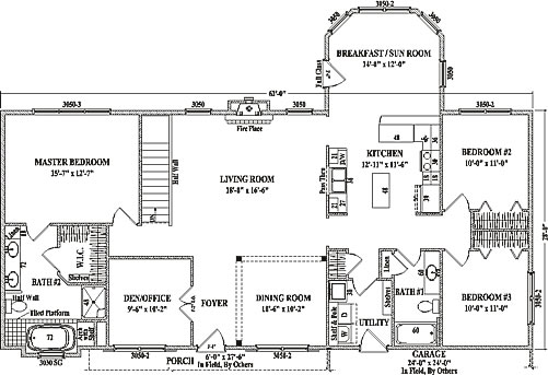 alexandria ii by wardcraft homes ranch floorplan