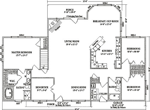 Alexandria iii by wardcraft homes ranch floorplan for Concept home plans