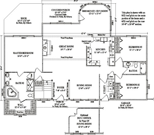 Ashby by wardcraft homes ranch floorplan for Ashby house plan