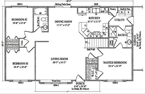 bridgeport by wardcraft homes ranch floorplan