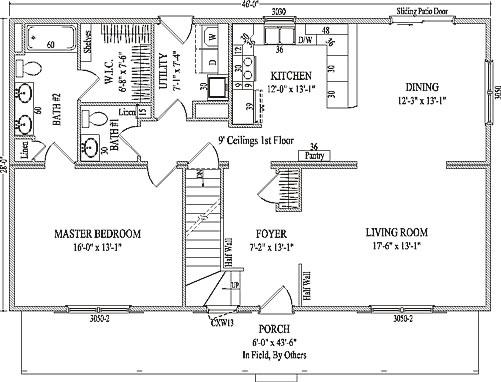 Bristol By Wardcraft Homes Two Story Floorplan