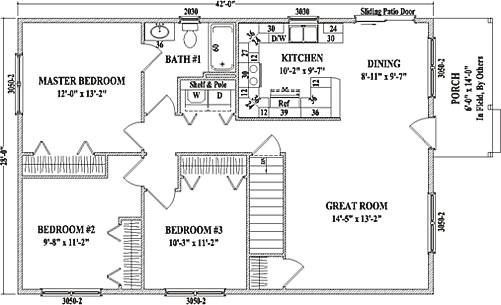 Cambridge Ranch Floorplan By Wardcraft Homes