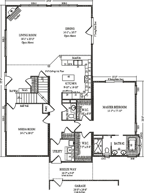Carrington by wardcraft homes two story floorplan for Carrington plan