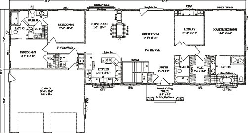 Clay center ii by wardcraft homes ranch floorplan for Split master bedroom floor plans