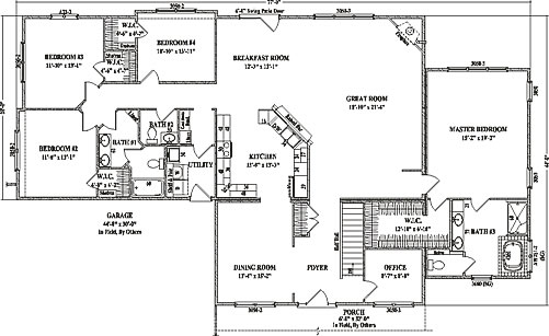 Cottonwood by Wardcraft Homes Ranch Floorplan on ranch log home plans, ranch home lighting, luxury home plans, ranch home addition plans, ranch homes with porches, ranch home pricing, ranch home sketches, ranch style homes, ranch home basement plans, house plans, large ranch home plans, ranch home building kits, ranch home interiors, ranch home doors, ranch home with basement, ranch home design plans, ranch home history, ranch home bedrooms, ranch home architecture, ranch home elevations,
