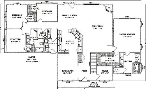 Cottonwood Ranch Floorplan By Wardcraft Homes