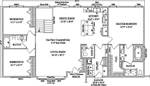 Drake by wardcraft homes ranch floorplan for 1800 sq ft floor plans