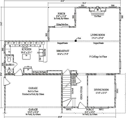 Fairbury by Wardcraft Homes Two Story Floorplan on