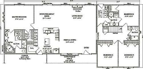 Fairview by wardcraft homes ranch floorplan for Ranch style open concept floor plans