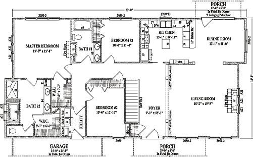 Georgetown by Wardcraft Homes Ranch Floorplan on