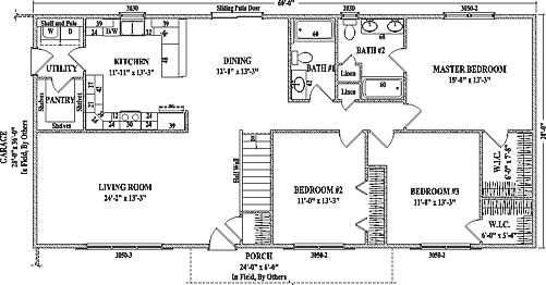 Elegant The Glenwood Ranch Floor Plan Offers A Total Of 1680 Square Foot Of Living  Space. This Spacious Plan Puts Up A House With Three Bedrooms, ... Images