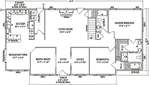 grandview by wardcraft homes ranch floorplan