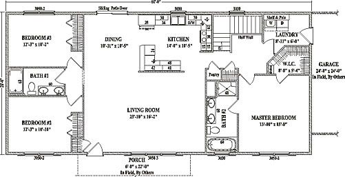 Jamestown iv by wardcraft homes ranch floorplan Open concept ranch home plans