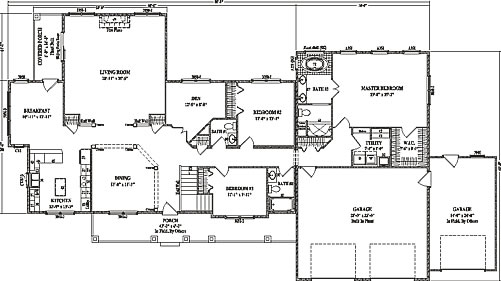 Gallery For Single Story Ranch House Floor Plans