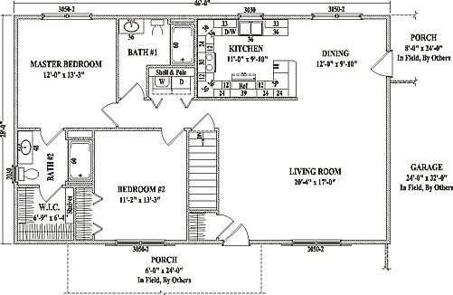 The Lexington Ranch Floor Plan Is A Large One Story Floor Plan With Two  Bedrooms And Two Full Size Baths. There Is A Spacious Walk In Closet ...