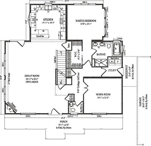 lockwood by wardcraft homes two story floorplan