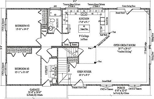 Minden Ii By Wardcraft Homes Two Story Floorplan