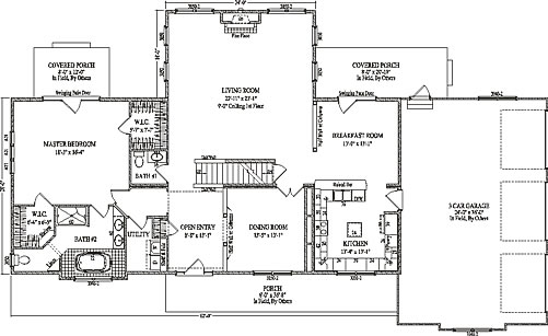 Oxford by wardcraft homes two story floorplan for Oxford floor plan