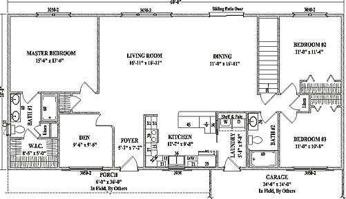 Richmond by Wardcraft Homes Ranch Floorplan on 3-bedroom ranch homes, 3-bedroom ranch style house plans, house plans with 5 bedrooms and 3 bathrooms,