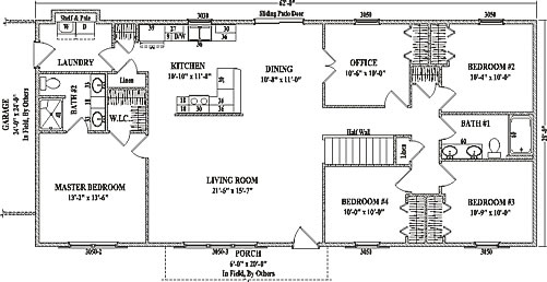 Roosevelt V Ranch Floorplan By Wardcraft Homes