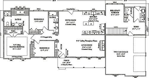 Stoneham By Wardcraft Homes Ranch Floorplan