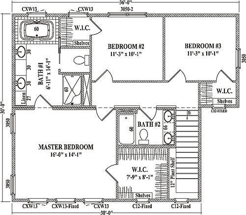 white pine by wardcraft homes two story floorplan