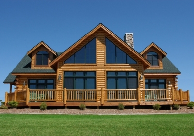 Modular Chalet Home 3200 Square Foot 2 Story Hybrid Log