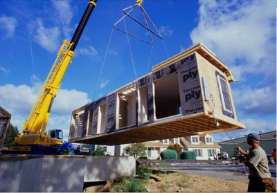 Excel Modular Home Being Set