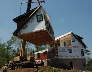 History of modular homes buildings for Pre built barn homes